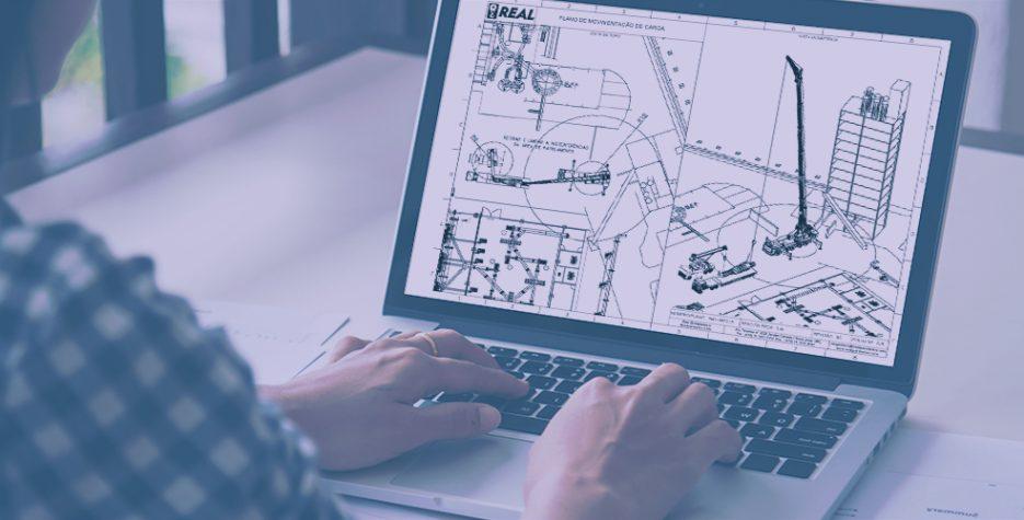 imagem com engenheiro preparando um plano de rigging