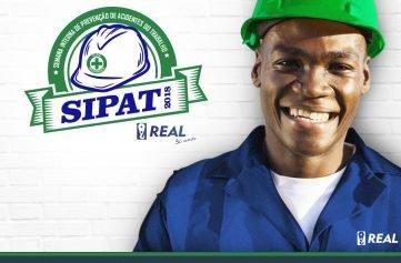 homem com capacete e logotipo real e logo sipat