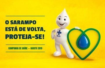 imagem da campanha de vacinação contra o sarampo