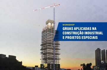 imagem do edificio concordia construtora caparao no bairro belvedere belo horizonte e guindaste torre liebherr