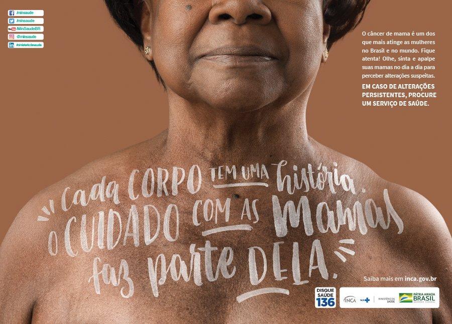 cartaz campanha outubro rosa 2020 ministério da saúde