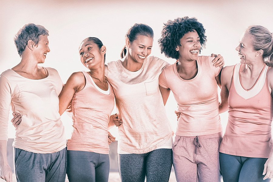 mulheres felizes campanha outubro rosa