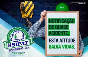 SIPAT 2020 – Notificação de quase acidente, esta atitude SALVA VIDAS.